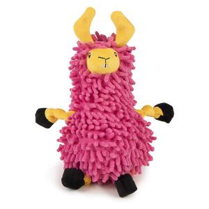 GoDog Noodle Llama Dog Toy- Pink