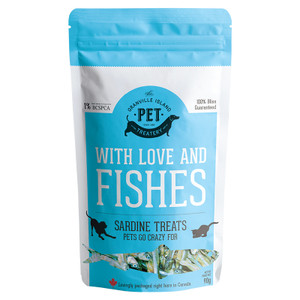 Grainville Pet Treatery With Love and Fishes Sardine Treats