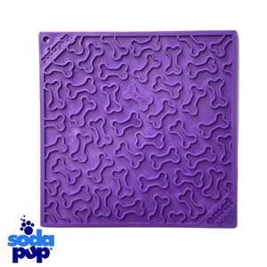 "SodaPup Bones Enrichment Licking Mat - Purple - 8"" x 8"""
