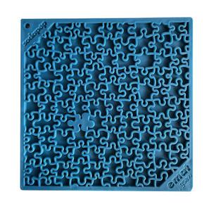 """SodaPup Jigsaw Enrichment Licking Mat - Blue - 8"""" x 8"""""""