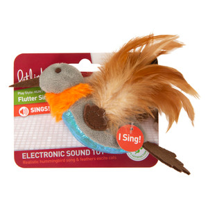 Petlinks Flutter Singer Hummingbird Cat Toy with electronic sound