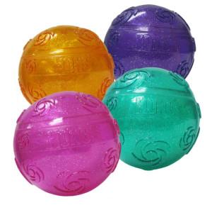 KONG Squeezz Crackle Ball- Medium - Mickeyspetsupplies.com