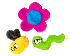 Cycle Dog Flower Puppy Pack Toys -3 Pack (Colors vary)