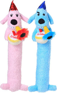 Multipet Birthday Loofa Dog Plush Dog Toy 12 inch