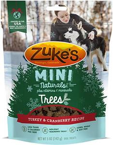Zuke's Mini Naturals Trees Turkey & Cranberry Dog Treats 5 oz.