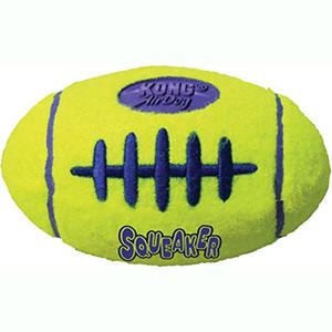 KONG Airdog Squeaker Football Medium Dog Toy- Mickeyspetsupplies.com