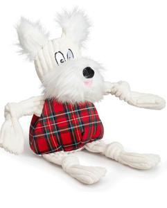 Hugglehounds Tartan Whiskey Westie Large Dog Toy