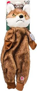 Spot Furzz Flattie Fox Dog Toy