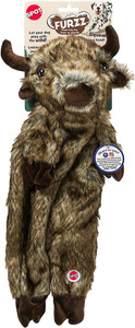 Spot Furzz Flattie Buffalo Dog Toy