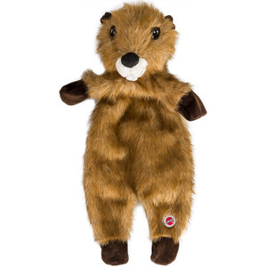 Spot Furzz Flattie Beaver Dog Toy - Large