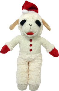Multipet Standing ambchop with Santa Hat 13 inches