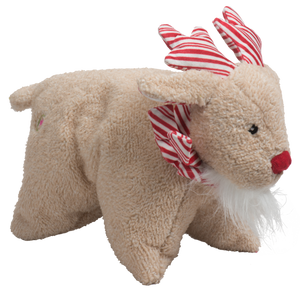 Hugglehounds Peppermint Squooshie Reindeer Small with Tuffut Technology