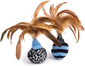 PetLinks Feather Flips Balls 2 Pack