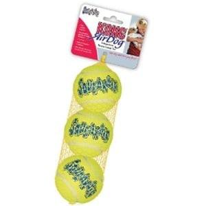 KONG Air dog Squeaker Tennis Balls Medium 3 pack