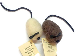 Natural Wool Mouse Cat Toy X Large