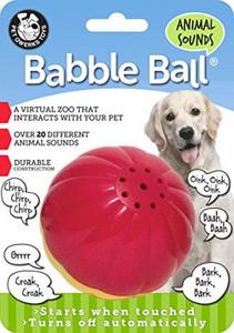 Pet Qwerks Animal Sounds Babble Ball Large- Mickeyspetsupplies.com