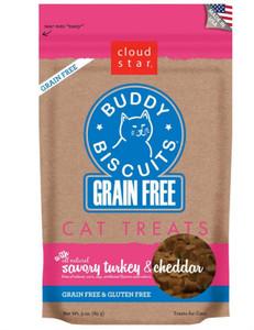 Cloud Star Cat Treats- Buddy Biscuits Grain Free Turkey & Cheddar