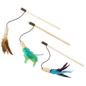 Ethical Cat Bernet Cork with Feathers Wand