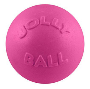 Jolly Pets Bounce N Play Pink 4.5 inch Dog Toy stands up to the roughest,toughest dogs