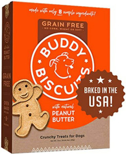 Cloud Star Grain Free Buddy Biscuits Oven Baked Peanut Butter Dog Treats