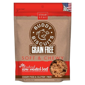 Cloud Star Chewy Buddy Biscuits- Grain Free Beef Treats