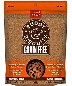 Cloud Star Chewy Buddy Biscuits- Grain Free Peanut Butter Dog Treats