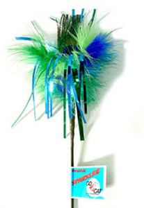 Go Cat Peacock Sparkler Teaser Cat Wand
