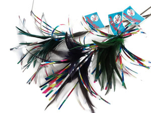 Go Cat Sparkling Kitty Duster Teaser Wand by Go Cat interactive wand has mylar that makes noise with feathers to entice your cat to play