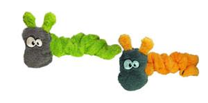 Cycle Dog Duraplush Springy Caterpillar USA Dog Toy
