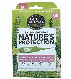 Earth Animal Flea and Tick Herbal Spot On for Cats
