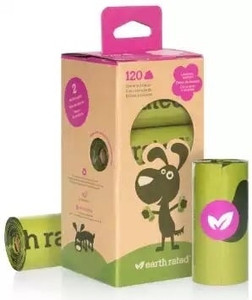 Earth Rated Bio-Degradable Poop Bags-Refill Rolls 120 Bags (8 Rolls)