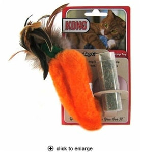 Kong Feather Top Carrot Catnip Toy
