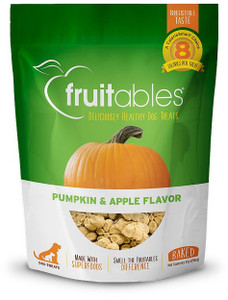 Fruitables Pumpkin and Apple Crunchy Dog Treats