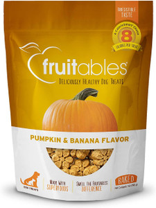 Fruitables Pumpkin and Banana Crunchy Dog Treats
