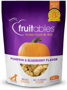 Fruitables Pumpkin and Blueberry Crunchy Dog Treats