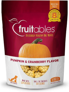 Fruitables Pumpkin and Cranberry Crunchy Dog Treats