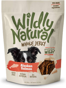 Fruitables Wildly Natural Whole Jerkt Salmon dog treats