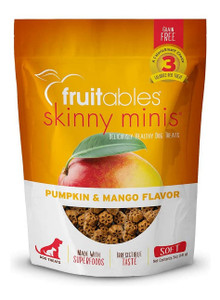 Fruitables Skinny Minis Pumpkin and Mango Flavor Chewy Dog Treats