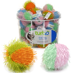 Turbo Fuzzy Ball Cat Toy