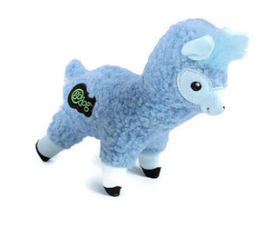 GoDog Fleece Llama Small Dog Toy