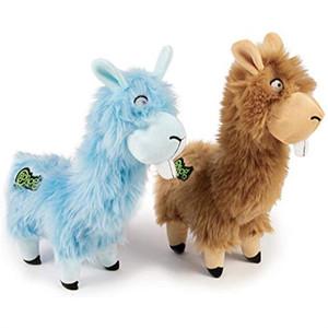 GoDog Buck Tooth Llama Small dog toy