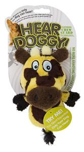 GoDog Hear Doggy Flats Giraffe With Chew Guard Mini
