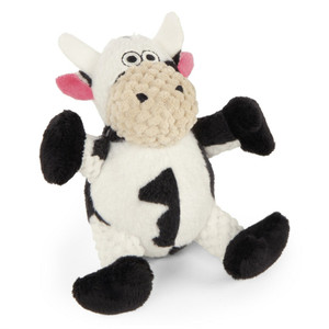 GoDog Checkers Just For Me Cow Dog Toy