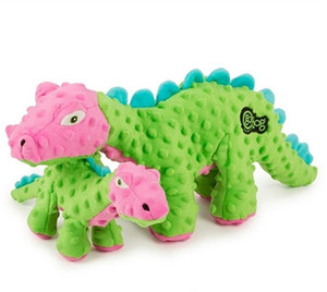 GoDog Dinos Spike Green With Chew guard- Large