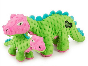 GoDog Dinos Spike Green With Chew guard- Small