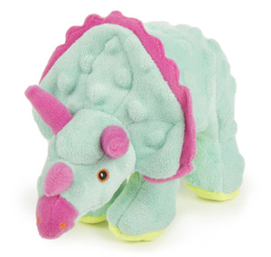 GoDog Triceratops Frills Teal With Chew guard- Small