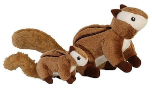 GoDog Chipmunk Dog Toy with Chew Guard