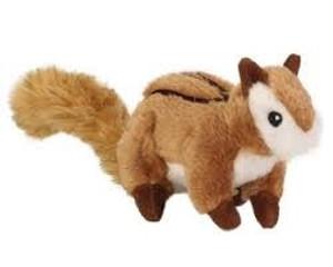 GoDog Chipmunk Dog Toy with Chew Guard Small