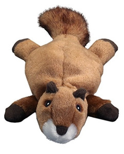 GoDog Flatz Squirrel No Stuffing Dog Toy with Tuffut layers for extra durability making it a very tough dog toy