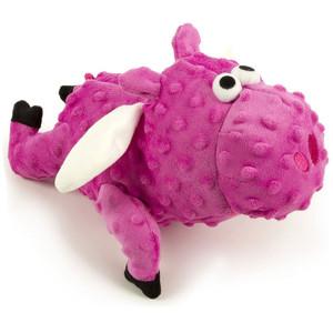GoDog Checkers Flying Pig Dog Toy-Large